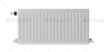 Radiator isolated cutout, white background. 3d illustration