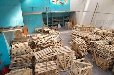 Dump of pallets