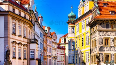 Colored buildings of Prague