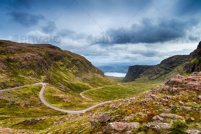 The Bealach na Ba mountain pass road