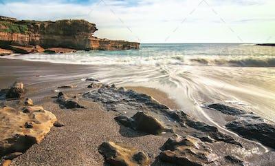 Long Exposure of Ocean Waves in New Zealand