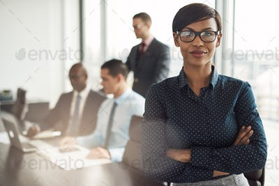 Confident young African businesswoman
