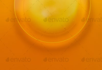 Abstract background of yellow color and circle shape