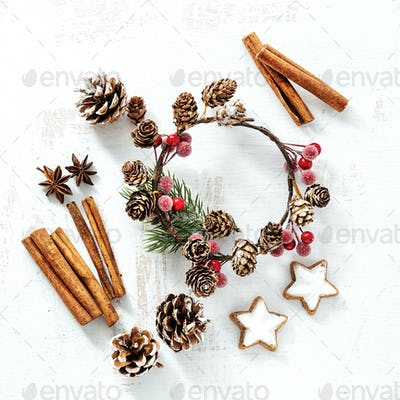 Arrangement of Classic Christmas Decorations