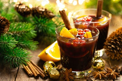 Christmas, New Year, Xmas, X-mas or Noel mulled wine