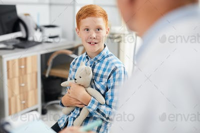 Smiling Boy Visiting Doctor