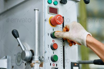 Machine Control Panel at Factory