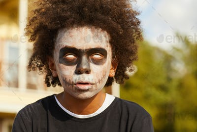 Zombie Boy on Halloween
