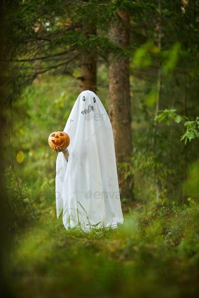 Ghost on Halloween