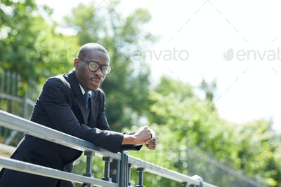 African Businessman Outdoors