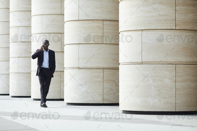 African-American Businessman in City