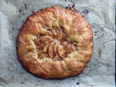 freshly baked french apple tart