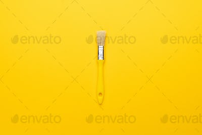Paint Brush On The Yellow Background