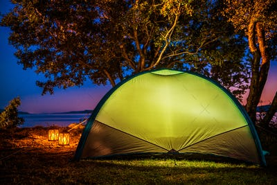 Sea Front Tent Camping