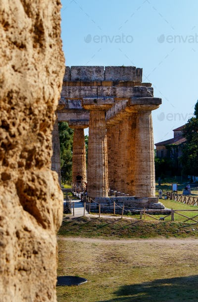 The greek Temple of Hera-II. Paestum, Italy