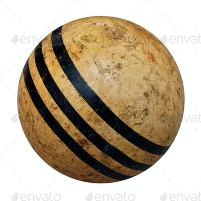 Old croquet ball