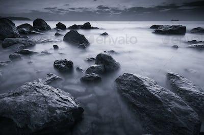 Beautiful monochrome seascape.