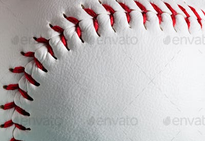 Macro of new baseball ball with copy space.