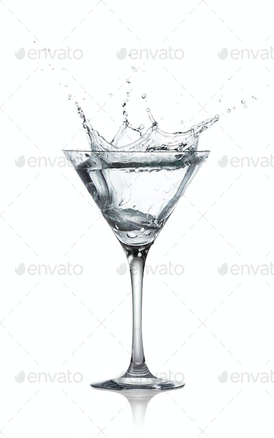 Alcohol drink with great splash