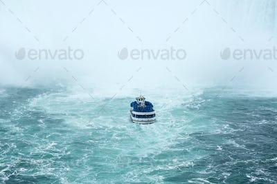 Ferry approaching the famous Niagara Fall