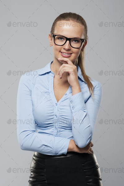 Portrait of elegance businesswoman wearing glasses