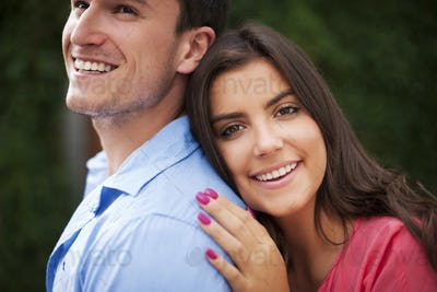 Portrait of beautiful and smiling couple