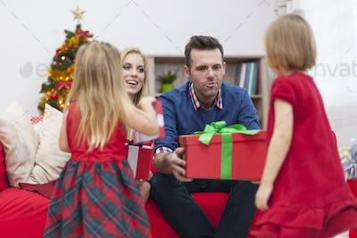 Girls! Santa Claus is coming!