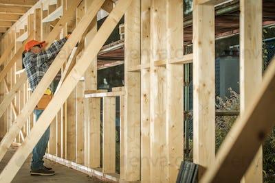 Wood House Construction Job