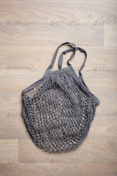 reusable mesh cotton shopping bag, plastic free zero waste conce