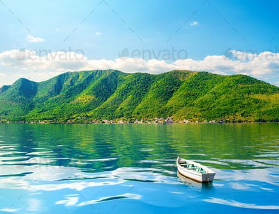Fishing boat in Perast