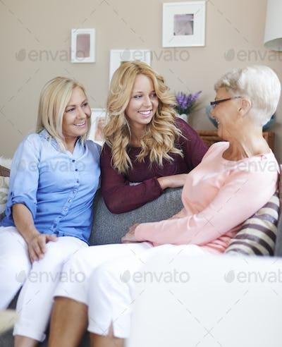 Happy meeting in grandmama's house