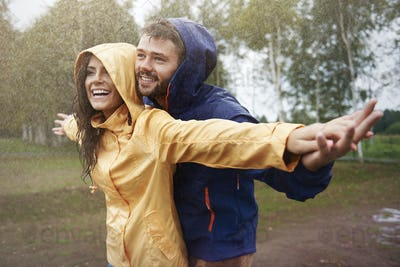 Feeling free in the rain