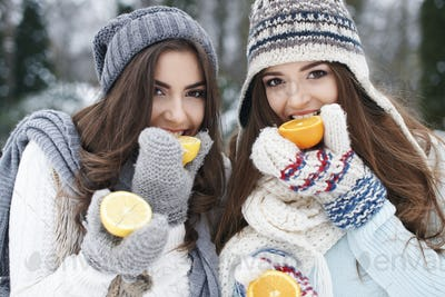 Eating natural vitamins in winter strengthens our resistance