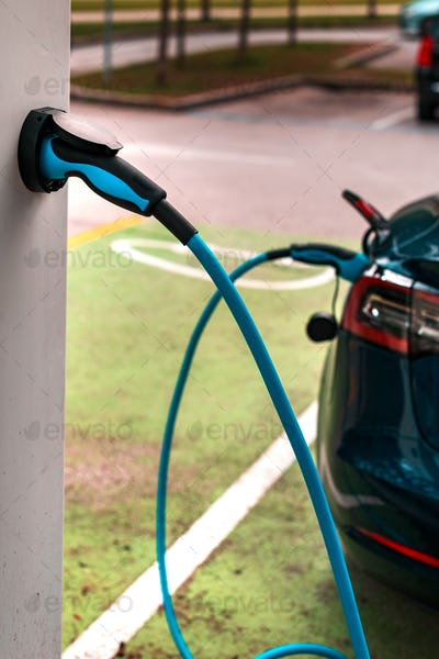 Electric vehicle charging station point
