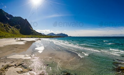 Lofoten archipelago islands beach