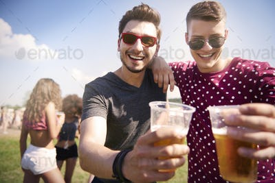 Music festival with my buddy
