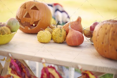 Decoration for Halloween party outdoors
