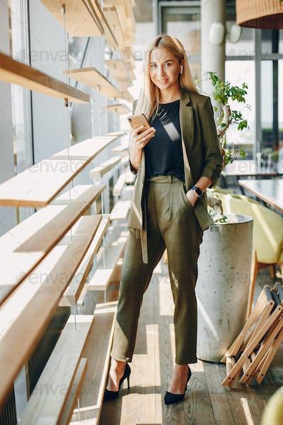 Elegant businesswoman working in a office