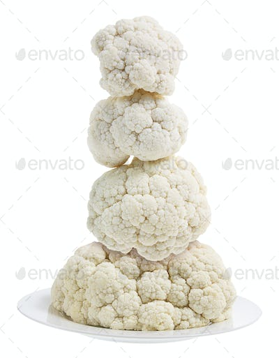 Cauliflower on Plate