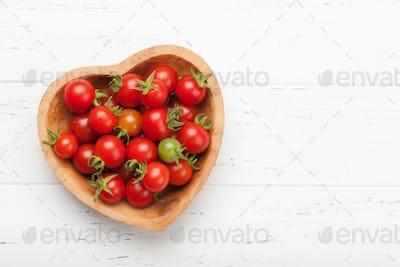 Fresh garden cherry tomatoes