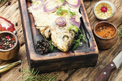 Baked fish for christmas