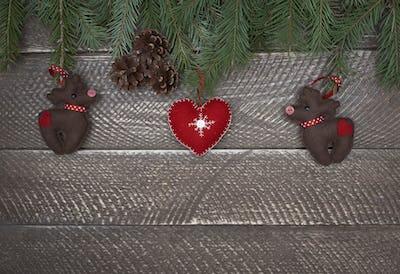 Charming colorful felt christmas ornaments