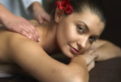 Portrait of woman at the Spa