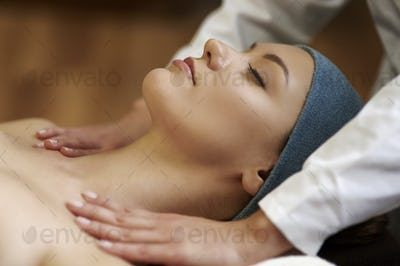 Relaxed during a very nice massage