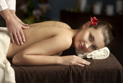 Tranquil scene during body massage