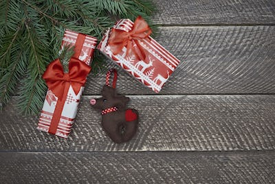 Amazing homemade christmas ornaments on the table