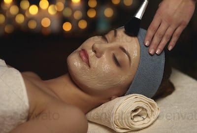 Beauty mask at beauty spa