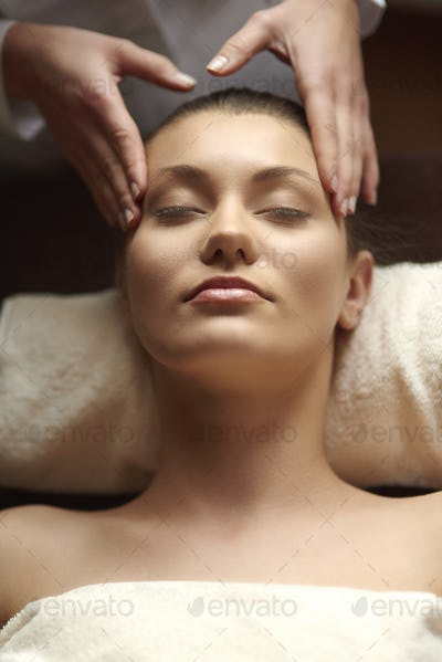 Head massage is very relaxing