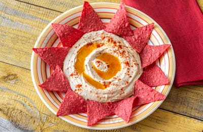 Hummus with tortilla chips