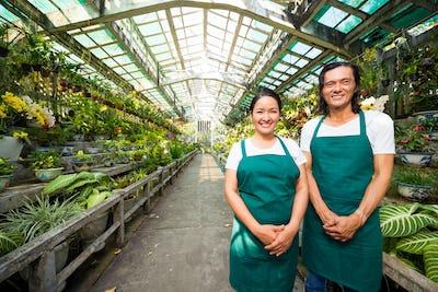 Team of orangery workers
